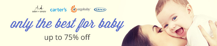 Save up to 75% on Baby Essentials
