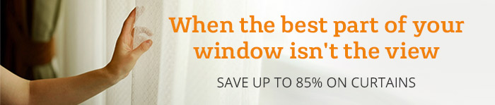 Up to 85% off curtains