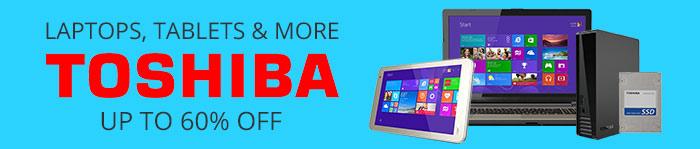 Save up to 60% off Toshiba Electronics
