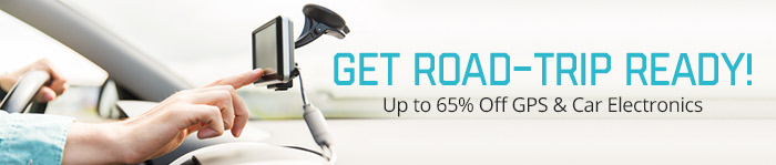 Up to 65% off GPS & Car Electronics