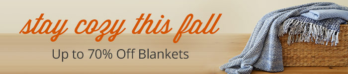 Up to 70% off Blankets
