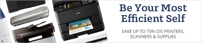 Save up to 70% on Printers, Scanners & More