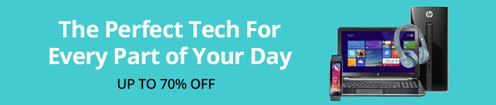 Save up to 70% Off Tech