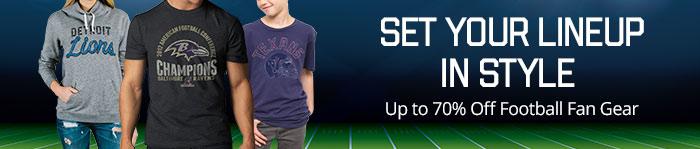 Up to 70% off Football Fan Gear
