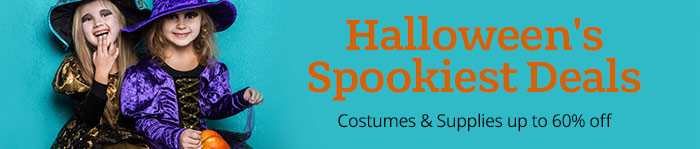 Costumes & Halloween Supplies up to 60% off