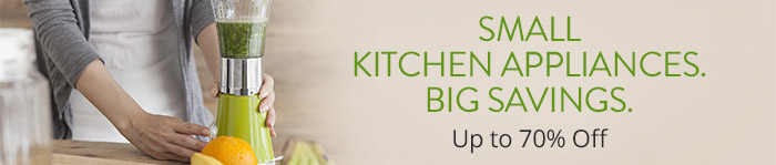 Save up to 70% off Small Kitchen Appliances