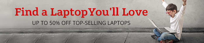 Up to 50% off Top-Selling Laptops