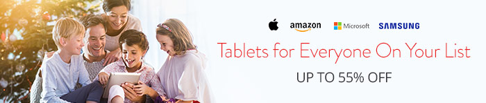 Save up to 55% off Tablets Everyone