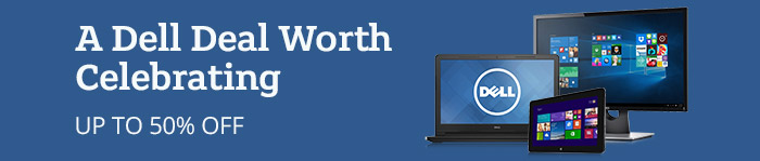 Up to 50% off Dell Tech