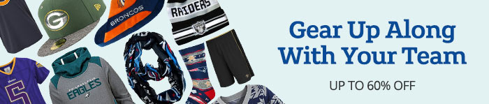 Save up to 60% off Gear from your Fave Team