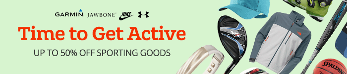 Save up to 50% off Sporting Goods