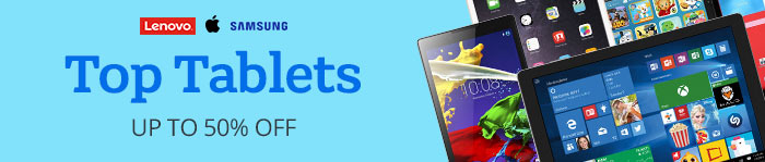 Save up to 50% off Tablets