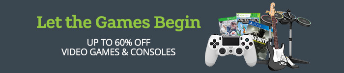 Save up to 60% off Video Games & Consoles