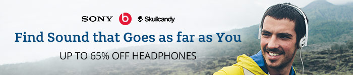 Save up to 65% off Headphones