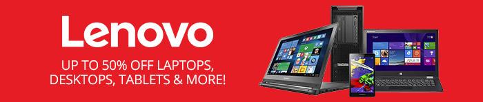 Save up to 50% off Lenovo Laptops, Desktops, Tablets & More