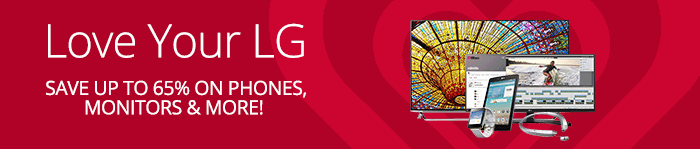 Save up to 65% on LG Electronics