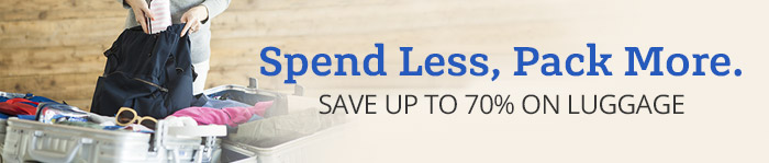 Save up to 70% off Luggage