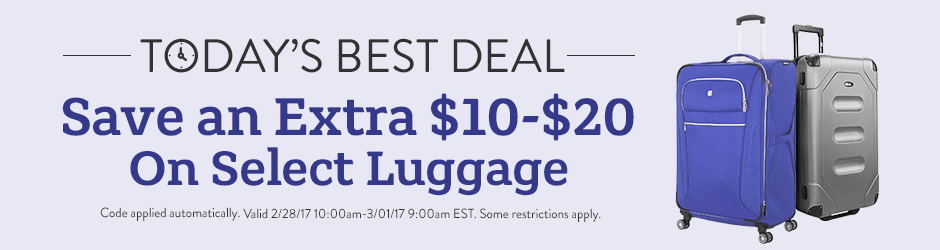 Luggage Deal of the Day