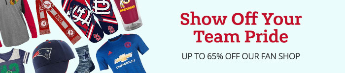Save up to 65% on Fan Gear