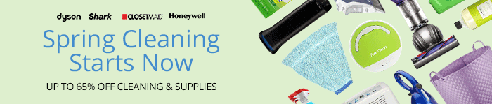 Save up to 65% on Home Cleaning & Supplies