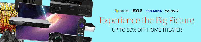 Save up to 50% on Home Theater Essentials