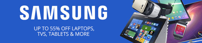 Save up to 55% on Samsung