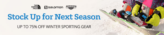 Save up to 75% on Winter Sporting Gear