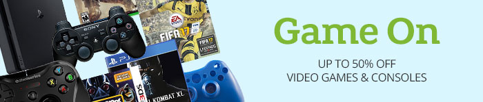 Save up to 50% on Video Games & Consoles