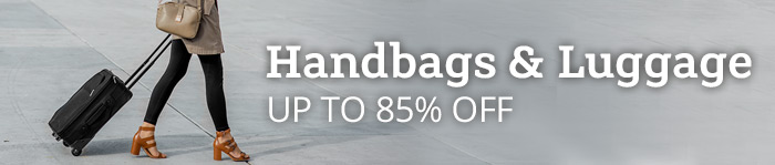 Up to 85% off Handbags & Luggage