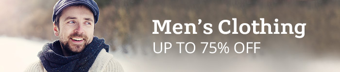 Up to 75% off Men's Clothing