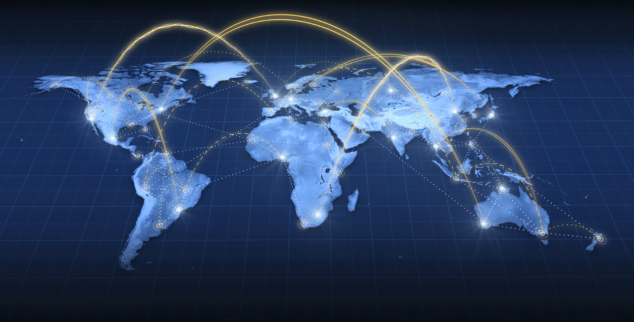 Connected globe by trade