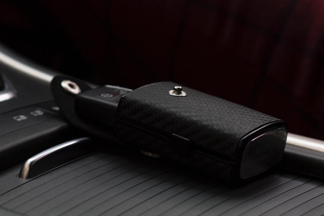 A Car Key Case With A Touch Of Carbon Fiber 123 Design Blog