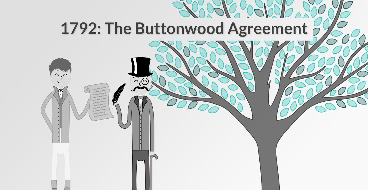 1792: The Buttonwood Agreement