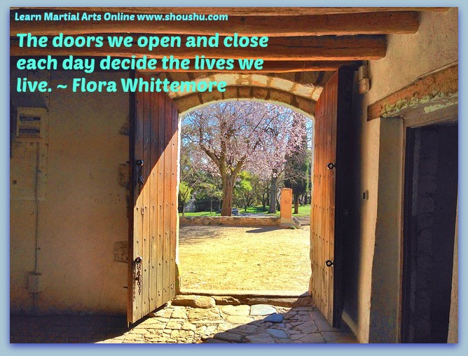 The doors we open and close each day decide the lives we live. ~ Flora Whittemore & Spiritual | Page 4 | Shouu0027 Shu