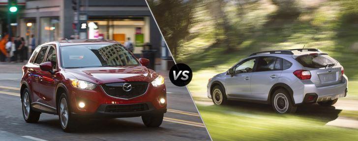 Mazda CX 5 Outperforms Subaru Crosstrek