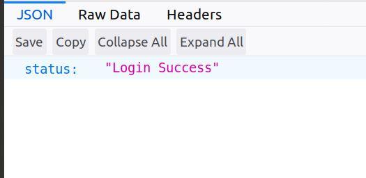 Login success