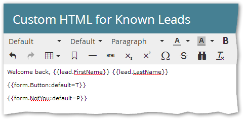 An obscure Marketo Forms 2 0 bug with Known Lead HTML + non