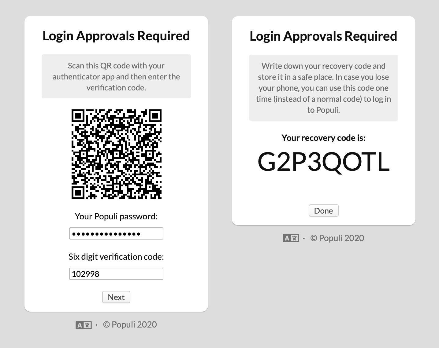 Setting up login approvals in Populi