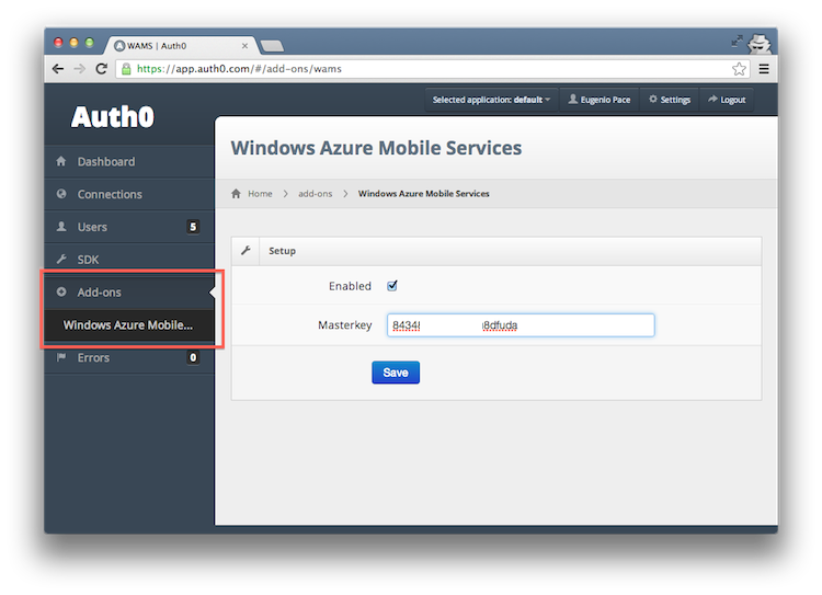 Azure Mobile Services Authentication
