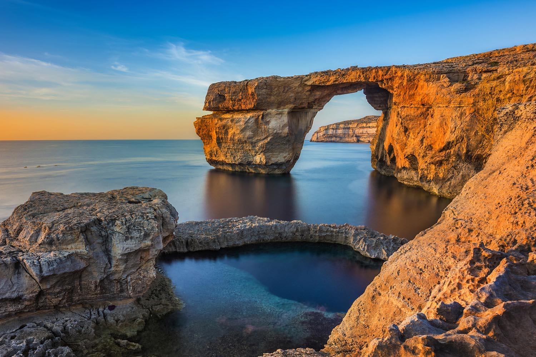 """""""La Ventana Azul"""", en Malta, se usó como escenario en la primera temporada de Game of Thrones."""