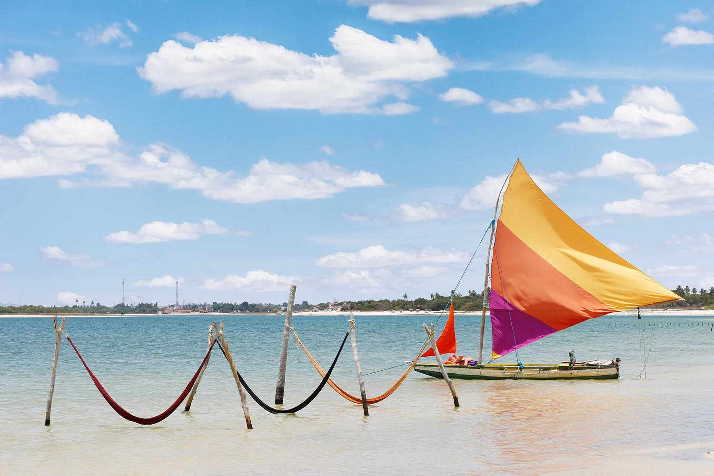 La excursión más famosa es a Lagoa Do Paraiso, donde te sacás la típica foto arriba de la hamaca