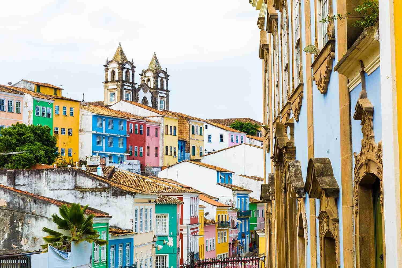 El Pelourinho es el casco histórico de la ciudad, que preserva la arquitectura colonial barroca portuguesa