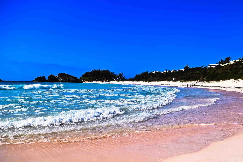 Esta es la playa Port Royal Cove, ubicada en la isla de Bermudas