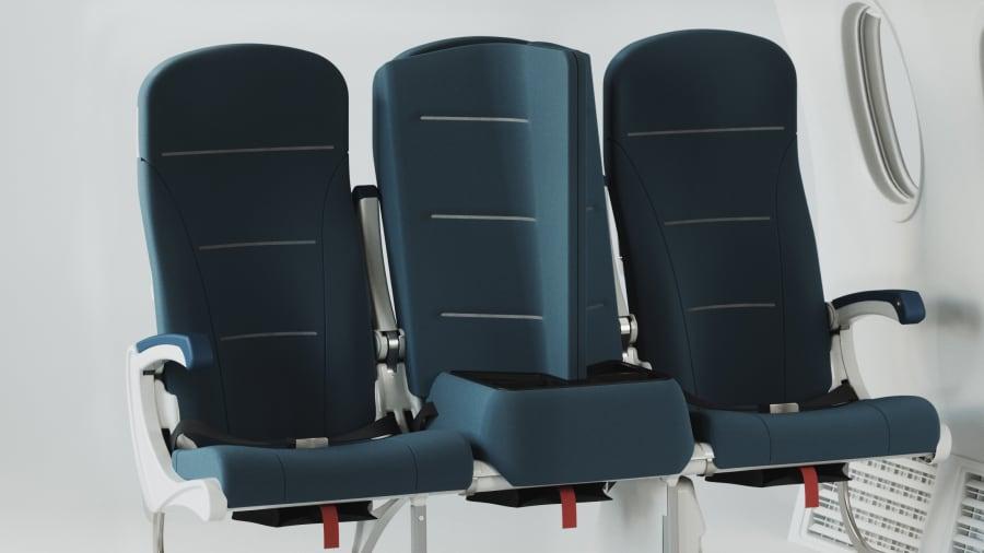 El nuevo diseño de asientos de avión que se propone para los viajes postpandemia