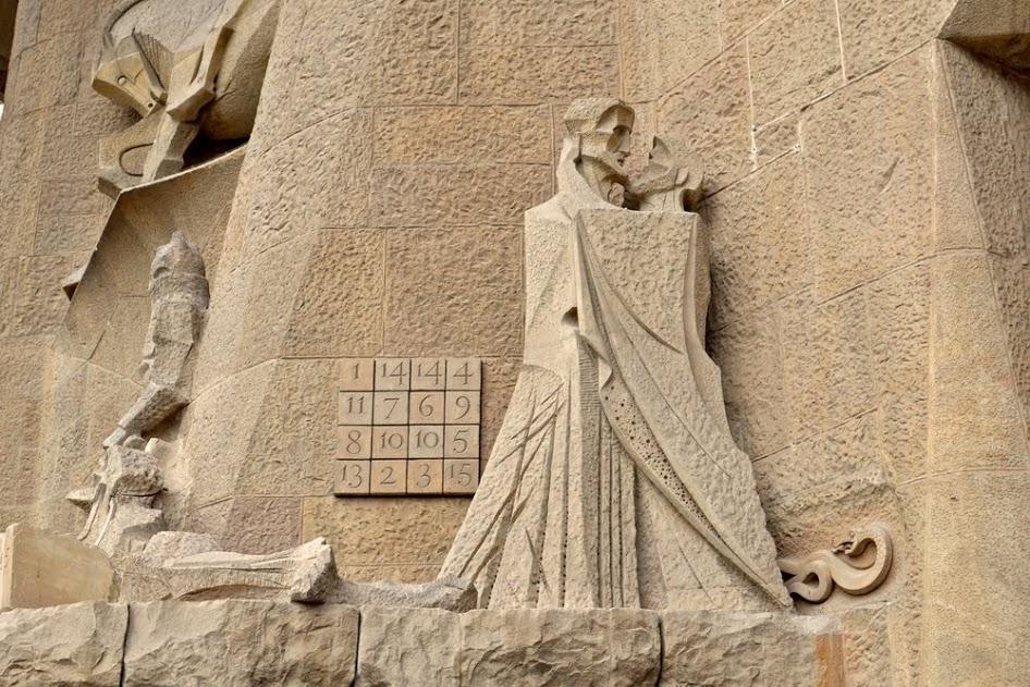 Curiosidades de Barcelona: el cuadrado mágico de la Sagrada Familia