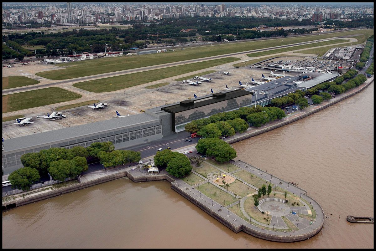 Agrandaron la pista de Aeroparque