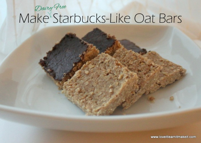 GF and Dairy free oat bars