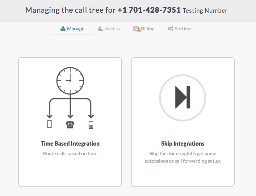 an example of integrations