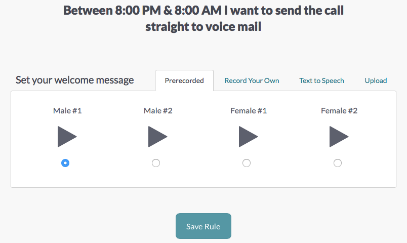 an example of how to set up your voicemail