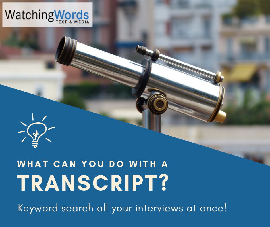 Keyword search all your interviews at once!